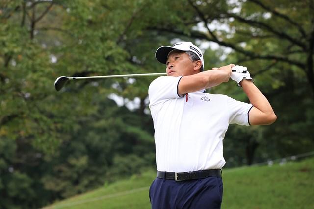 2021年 日本シニアオープンゴルフ選手権競技 3日目 手嶋多一 首位を独走する手嶋多一(※大会提供)