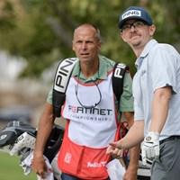キャディさんともどもなかなか表情豊かです(Stan Badz/PGA TOUR) 2022年 フォーティネット選手権 3日目 ジム・クノウス