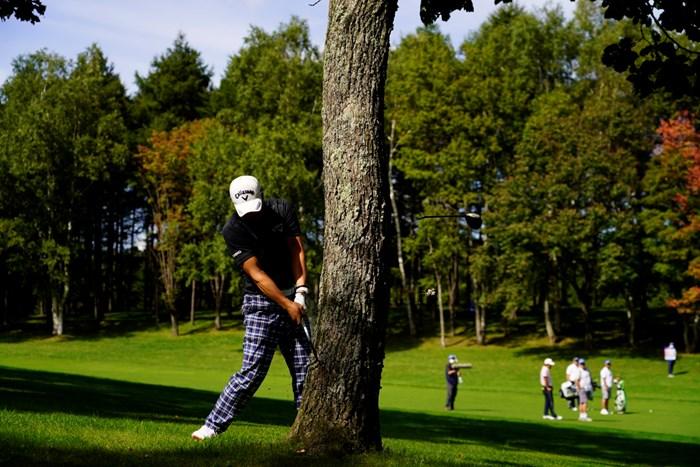 17番で5Wを折った一打(Sho Suzuki/JGTO images) 2021年 ANAオープンゴルフトーナメント 最終日 石川遼