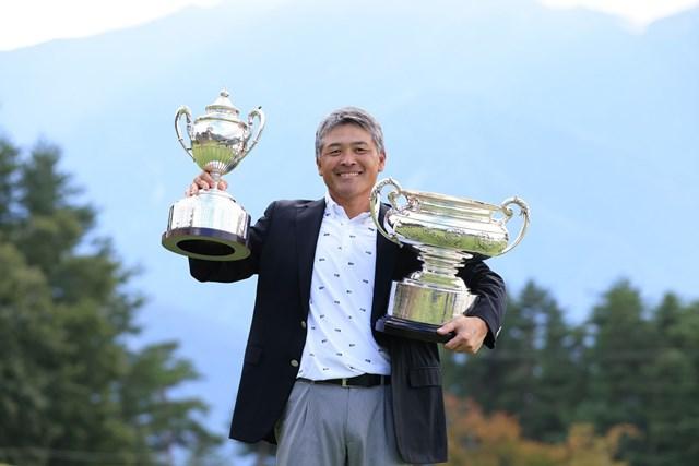 2021年 日本シニアオープンゴルフ選手権競技 4日目 手嶋多一 手嶋多一が「日本一」2冠を達成(提供:日本ゴルフ協会)