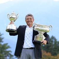手嶋多一が「日本一」2冠を達成(提供:日本ゴルフ協会) 2021年 日本シニアオープンゴルフ選手権競技 4日目 手嶋多一