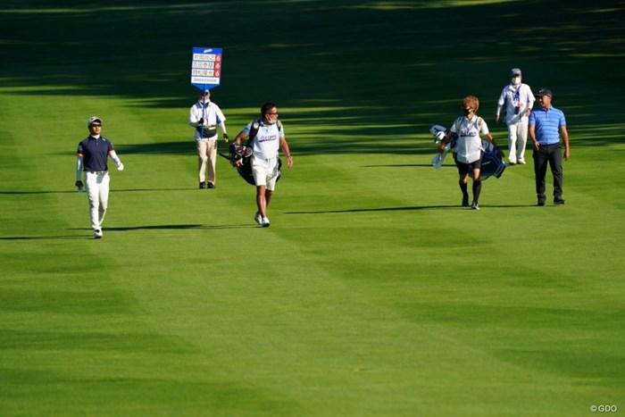 OUT1組目スタート 2021年 ANAオープンゴルフトーナメント 最終日 時松隆光 片岡尚之