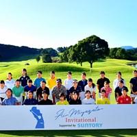 「第2回宮里藍インビテーショナル supported by SUNTORY」に参加したジュニアゴルファー(提供:エム・プロジェクト) 2021年 宮里藍