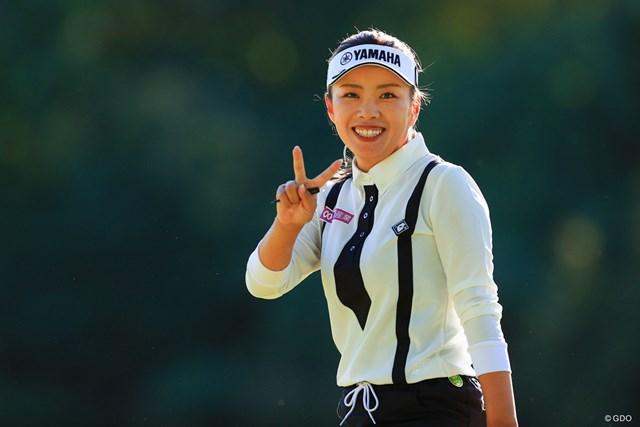 2021年 ミヤギテレビ杯ダンロップ女子オープン 初日 篠原まりあ 篠原まりあは2位タイで初日を終えた
