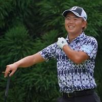 もう余裕な感じでゴルフ楽しんじゃってます。 2021年 パナソニックオープンゴルフチャンピオンシップ 2日目 木下稜介