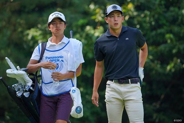 2021年 パナソニックオープンゴルフチャンピオンシップ 3日目 中島啓太 とてもナイスコンビに見えます。チームメイトなのかな?