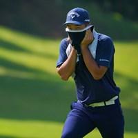 謎の覆面ゴルファー。 2021年 パナソニックオープンゴルフチャンピオンシップ 3日目 河本力