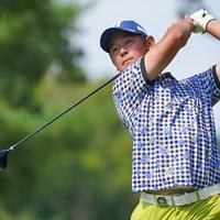 26歳の芦沢宗臣。名前は「母方の実家の茨城県のお坊さんに画数とか聞いたりして決めたそうです」 2021年 パナソニックオープンゴルフチャンピオンシップ  3日目 芦沢宗臣