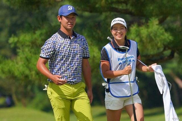 2021年 パナソニックオープンゴルフチャンピオンシップ  3日目 芦沢宗臣 今年6月のプロテストを2位で合格した松本珠利をキャディに二人三脚で臨む