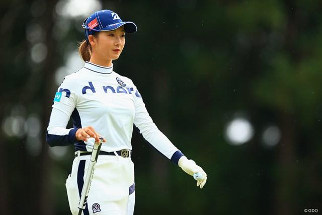 2021年 ミヤギテレビ杯ダンロップ女子オープン  2日目 松田鈴英 松田鈴英は無念の予選落ちに終わった
