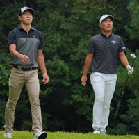 日体大コンビの中島啓太(左)と河本力 2021年 パナソニックオープンゴルフチャンピオンシップ 最終日 中島啓太 河本力