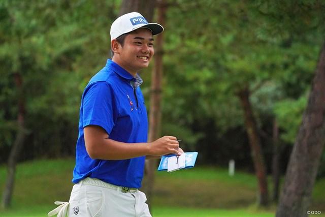 2021年 パナソニックオープンゴルフチャンピオンシップ 4日目 大岩龍一 少年のような笑顔が最高なんです。