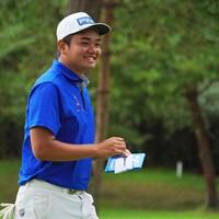 少年のような笑顔が最高なんです。 2021年 パナソニックオープンゴルフチャンピオンシップ 4日目 大岩龍一