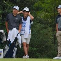 みんなチームメイトなのかな? 2021年 パナソニックオープンゴルフチャンピオンシップ 4日目 河本力 中島啓太
