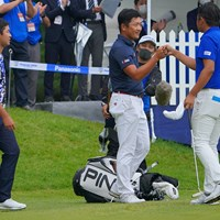 18番、何とかボギーで収め、戦いはプレーオフへ。 2021年 パナソニックオープンゴルフチャンピオンシップ 4日目 永野竜太郎