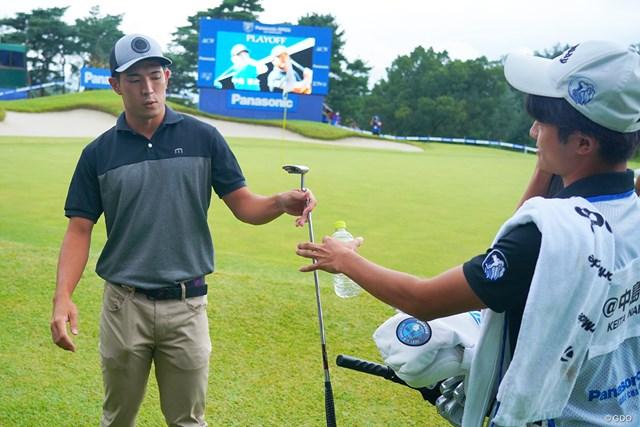 2021年 パナソニックオープンゴルフチャンピオンシップ  最終日 中島啓太 プレーオフ終えて優勝決まったのにこのポーカーフェイス。金庚泰のプレースタイルに憧れて表情を出さないようにしているそう