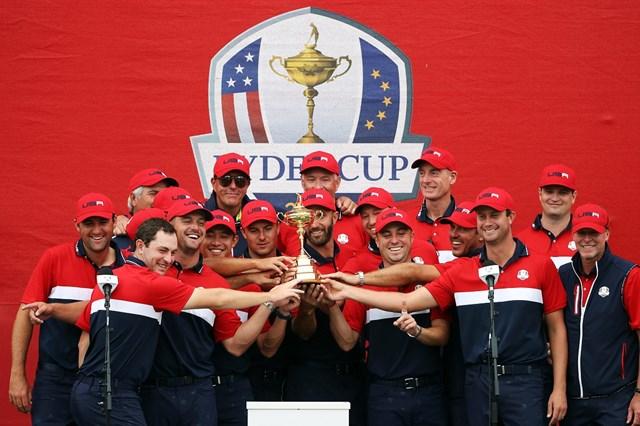 2022年 ライダーカップ 3日目 米国選抜 米国が圧勝した(Patrick Smith/Getty Images)