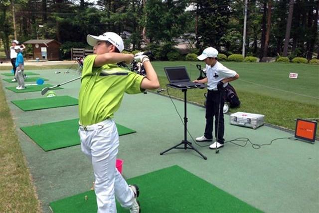 2021年 パナソニックオープンゴルフチャンピオンシップ  最終日 中島啓太 吉岡氏のキャンプに参加して練習に励んだ中島啓太(提供:吉岡徹治)
