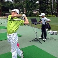 吉岡氏のキャンプに参加して練習に励んだ中島啓太(提供:吉岡徹治) 2021年 パナソニックオープンゴルフチャンピオンシップ  最終日 中島啓太