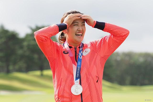 2021年 日本女子オープンゴルフ選手権 事前 稲見萌寧 久しぶりの日本代表&銀メダル姿で登場