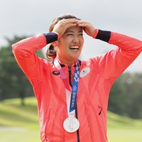 久しぶりの日本代表&銀メダル姿で登場 2021年 日本女子オープンゴルフ選手権 事前 稲見萌寧