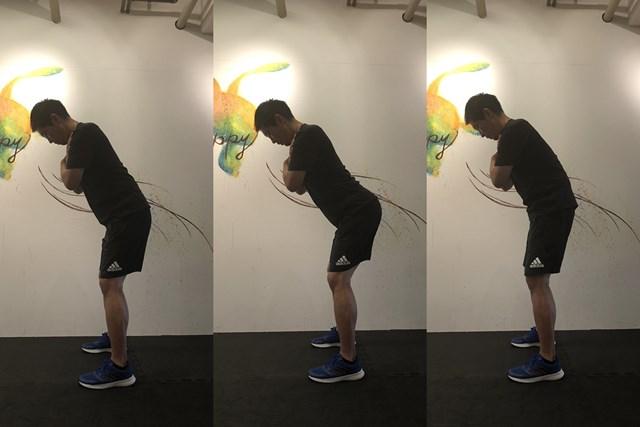 トレーニング3 骨盤の前傾、後傾の動きです