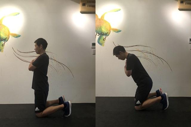 トレーニング2 体の軸を意識しましょう