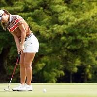 パターの感触も良好 2021年 日本女子オープンゴルフ選手権 初日 上田桃子