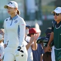 頑張れよ! 2021年 日本女子オープンゴルフ選手権 初日 柏原明日架