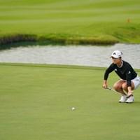 ルーティンですやん 2021年 日本女子オープンゴルフ選手権 初日 森田遥