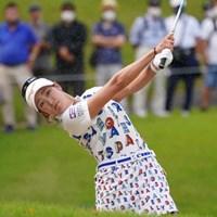バンカーショットです 2021年 日本女子オープンゴルフ選手権 初日 原英莉花
