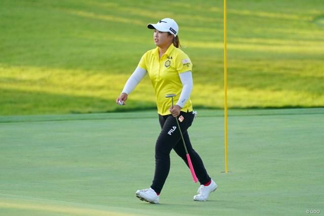 2021年 日本女子オープンゴルフ選手権 3日目 西郷真央 トップと2打差でフィニッシュ