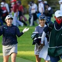 はしゃぐみなみちゃん 2021年 日本女子オープンゴルフ選手権 3日目 上田桃子 勝みなみ