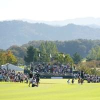 セカンド地点からの風景 2021年 日本女子オープンゴルフ選手権 3日目 原英莉花 福田真未