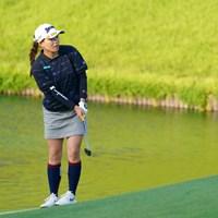 18番のアプローチショットでチップインバーディ 2021年 日本女子オープンゴルフ選手権 3日目 勝みなみ