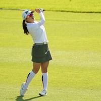 最終日もウェッジでピンを刺すプレーで会場を盛り上げた 2021年 日本女子オープンゴルフ選手権  最終日 勝みなみ