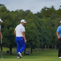色々と見分けの付かない3人。 2021年 ブリヂストンオープンゴルフトーナメント 初日 照屋佑唯智 亀代順哉 西山大広