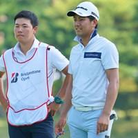 9月にギックリ腰を発症した石坂友宏。「ショットがしんどいけど、8割くらいで振れるようになってきた」 2021年 ブリヂストンオープンゴルフトーナメント 2日目 石坂友宏