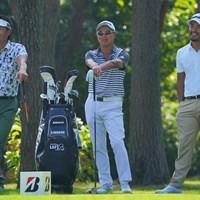 今日も楽しそうな3人でしたね。 2021年 ブリヂストンオープンゴルフトーナメント 2日目 宮本勝昌 谷口徹 小平智