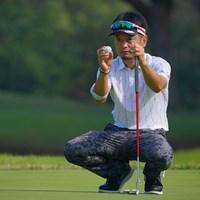 ボールに念を込めて。 2021年 ブリヂストンオープンゴルフトーナメント 2日目 竹谷佳孝