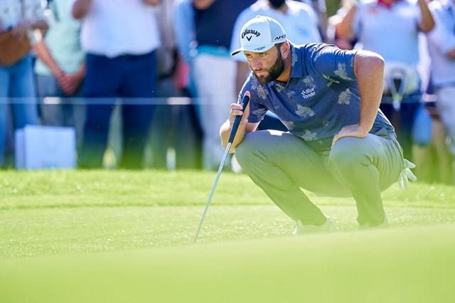 2021年 スペインオープン 2日目 ジョン・ラーム ジョン・ラームが1打差2位で大会を折り返した(Mateo Villalba/Quality Sport Images/Getty Images)
