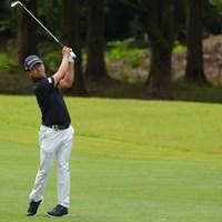 痛めた腰も回復してきた 2021年 日本オープンゴルフ選手権競技 初日 石坂友宏