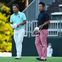 同組で伸ばし合った2人。 2021年 日本オープンゴルフ選手権競技 初日 小平智 池田勇太