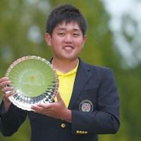 ローアマを獲得した米澤蓮 2021年 日本オープンゴルフ選手権競技 最終日 米澤蓮