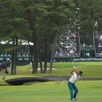 18番2ndショットは美しいドローボールでベタピンに。 2021年 日本オープンゴルフ選手権競技 最終日 池田勇太