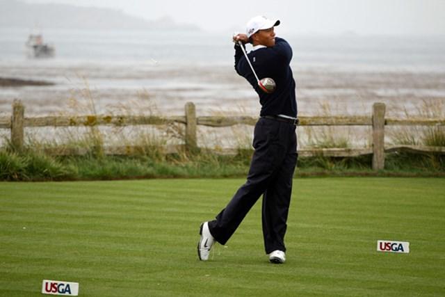 2010年 全米オープン 事前 タイガー・ウッズ 完全復帰が待たれるタイガー・ウッズ。得意のペブルビーチでどんな戦いを見せるか(Scott Halleran/Getty Images)