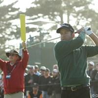 過去に2度の心臓移植をしているプロゴルファー。初日は+6と苦しいスタート 2010年 全米オープン初日 エリック・コンプトン