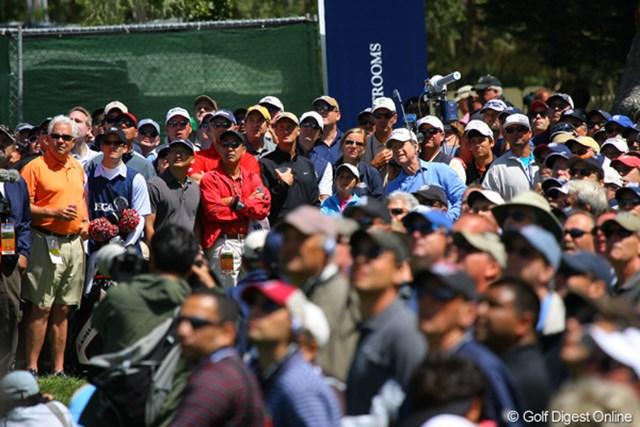 2010年 全米オープン初日 トム・ワトソン ワトソンさん、見つけられますか?
