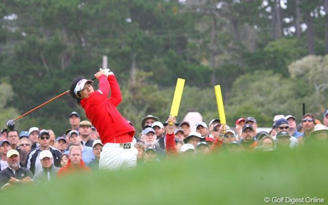 2010年 全米オープン2日目 石川遼 首位に2打差で決勝ラウンドを迎える石川遼。