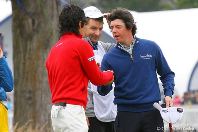 2010年 全米オープン2日目 石川遼&ロリー・マキロイ 「いつアメリカに来るんだ?」とマキロイ。遼くんは何と答えたのだろう